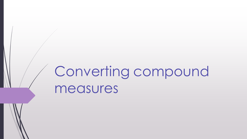 Converting compound measures