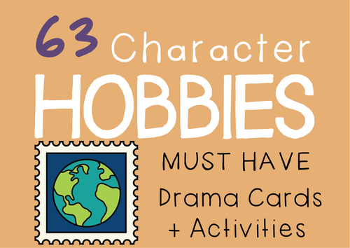 Drama Cards + Suggested Drama Activities: HOBBIES