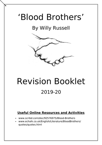 'Blood Brothers' Revision Booklet