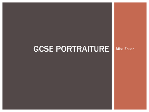 GCSE  Cultural Portraiture