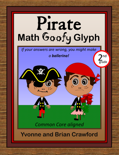 Pirate Math Goofy Glyph (2nd Grade Common Core)