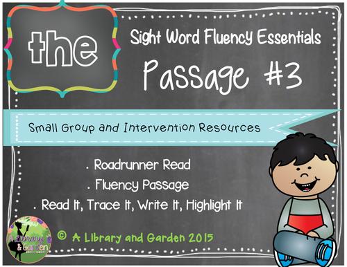 Sight Word Fluency Passage #3: THE