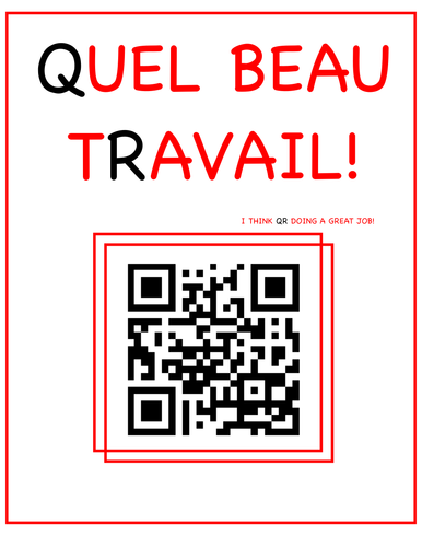 Instead of French stickers try these QR codes
