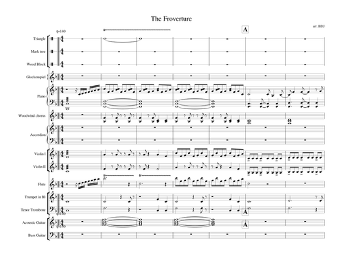 Frozen songs arranged for mid level small orchestra