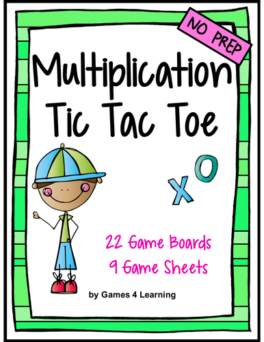 Multiplication Facts Tic Tac Toe Multiplication Games