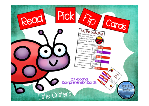 Bugs Read Flip Clip Cards