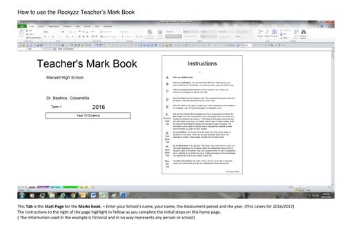 How to use the Teacher's Mark Book