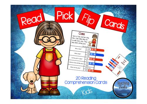 Read Pick Flip Cards Kids
