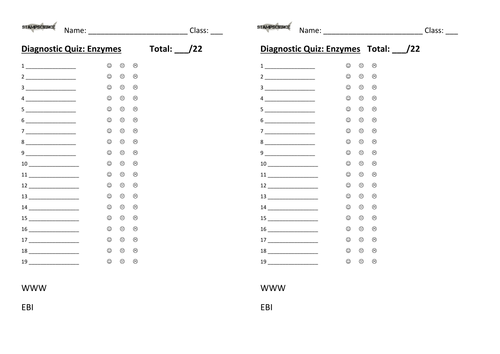 Enzyme activity worksheet | Teaching Resources