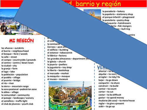 NEW GCSE literacy mat topic: house, town and area