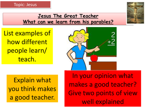 Jesus And Parables By Hlockyer Teaching Resources Tes