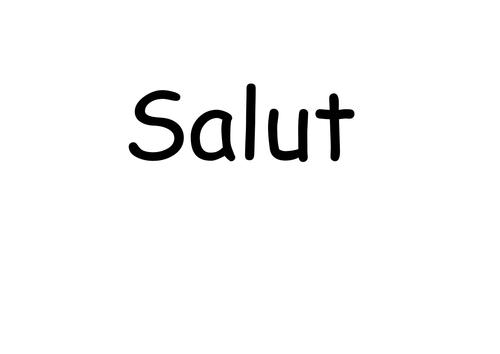 Basic French greetings