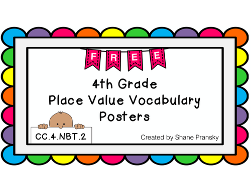 Place Value Vocabulary Posters {FREEBIE}