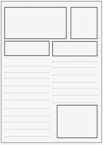 Newspaper article templates by jesspon teaching for Magazine storyboard template