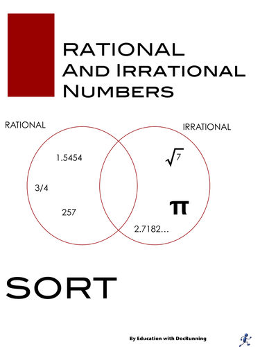 Rational And Irrational Numbers Sort Activity Interactive Notebook