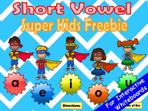 Free Short Vowel Super Kids PowerPoint Game