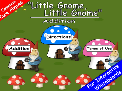 Addition Little Gnome PowerPoint Game