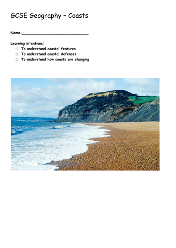 GCSE Geography Coastal Zone Full SOW and Resources