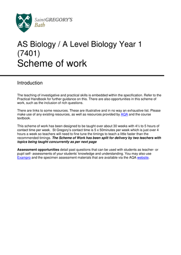 A2 biology coursework help