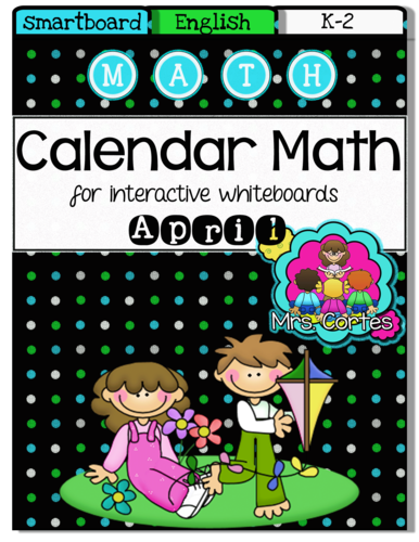 SMARTBOARD Calendar Math- April (English)
