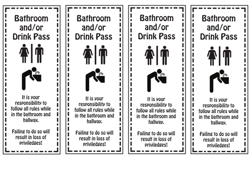 Bathroomdrink passes 4 passes per sheet by mrsbsbest teaching bathroomdrink passes 4 passes per sheet by mrsbsbest teaching resources tes maxwellsz