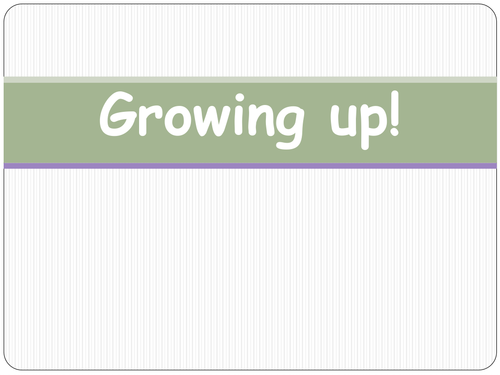 Year 5 PSHE Growing Up and Puberty Lesson 1