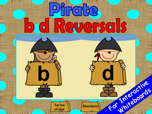 b d Reversals Pirates PowerPoint Game