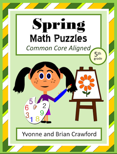 Spring Common Core Math Puzzles - 5th Grade