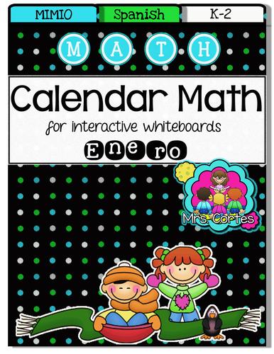 MIMIO Calendar Math- Enero (Spanish)