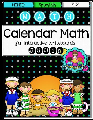 MIMIO Calendar Math- Junio (Spanish)