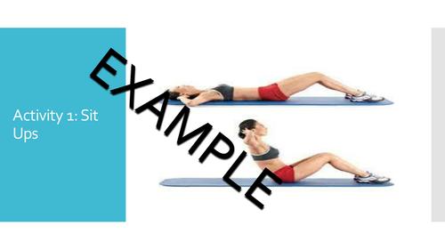 Fitness Flipcard Template