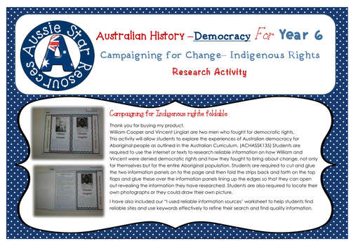 Yr 6 Australian History - Democratic Rights of Indigenous Australians