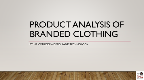 Product Analysis of Branded Clothing