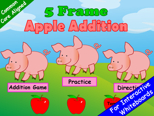 Addition Five Frame PowerPoint Game