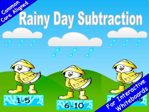 Numberline Subtraction PowerPoint Game