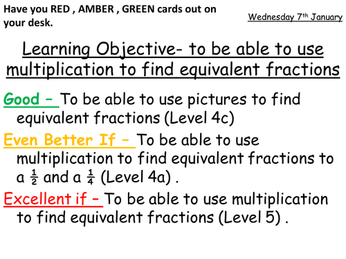 Equivalent Fractions - Low ability (KS2/KS3) by stefmathssparkle ...
