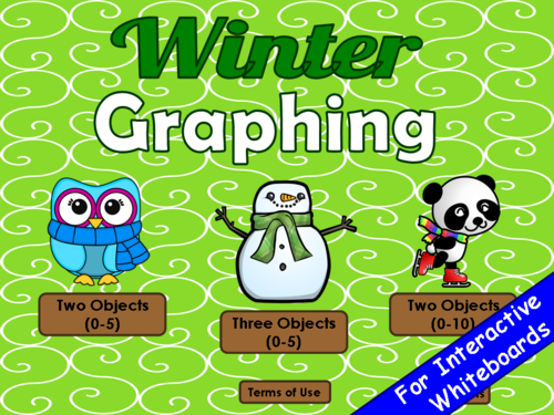 Winter Graphing PowerPoint Game
