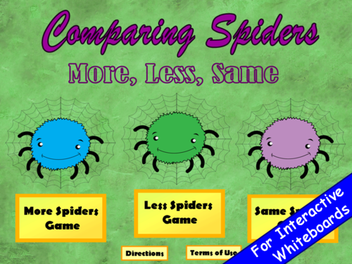 Comparing Numbers Spider PowerPoint Game