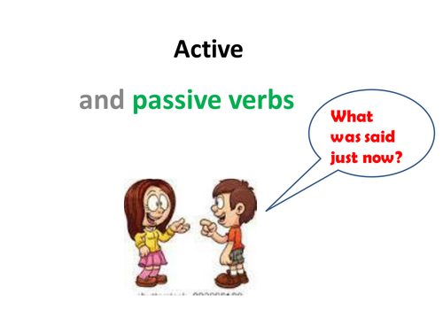 Active and passive verbs Powerpoint and differentiated worksheet – Passive and Active Voice Worksheet