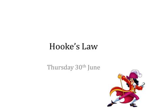 Hooke's Law KS3 w/ practical