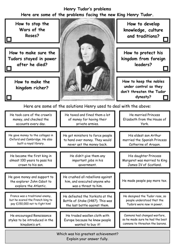 How did Henry VII consolidate his power after Bosworth?