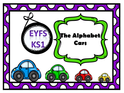 Lower Case Letters of the Alphabet Theme Cars