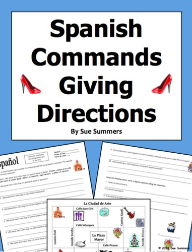 Spanish Commands and City Vocabulary 10 Giving Directions Response