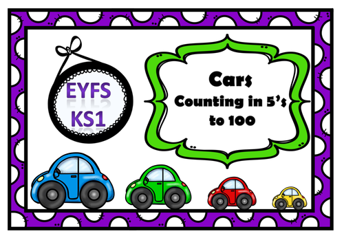 Counting in 5's:- Theme Cars