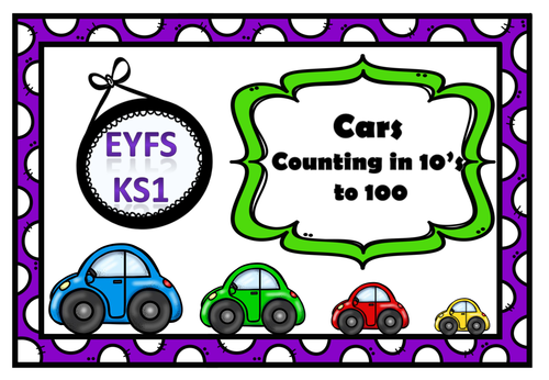 Counting in 10's:-Theme Cars