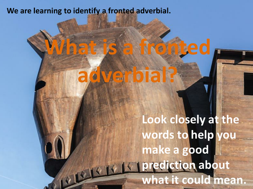 Fronted Adverbials (SPaG) 5 lessons with activities (Ancient Greece theme)