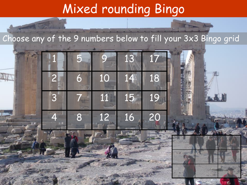 Rounding to a significant figure or decimal places Bingo with linked worksheet and answers.