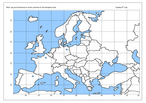 Grid reference using europe european union by annie1349 teaching grid reference using europe european union by annie1349 teaching resources tes gumiabroncs Images