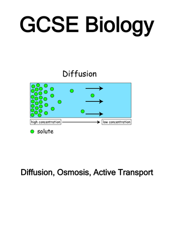 GCSE: Cell Transport - Movement in and out of cells: PPT and Booklet