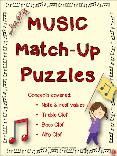 MUSIC MATCH-UP PUZZLES